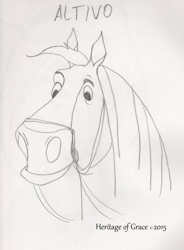 horse cartoon sketch
