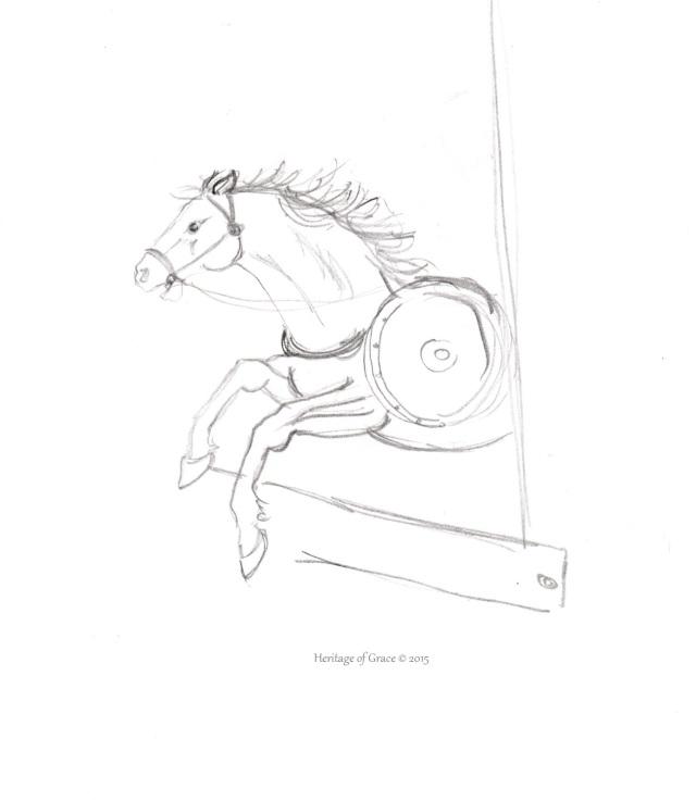 war horse sketch