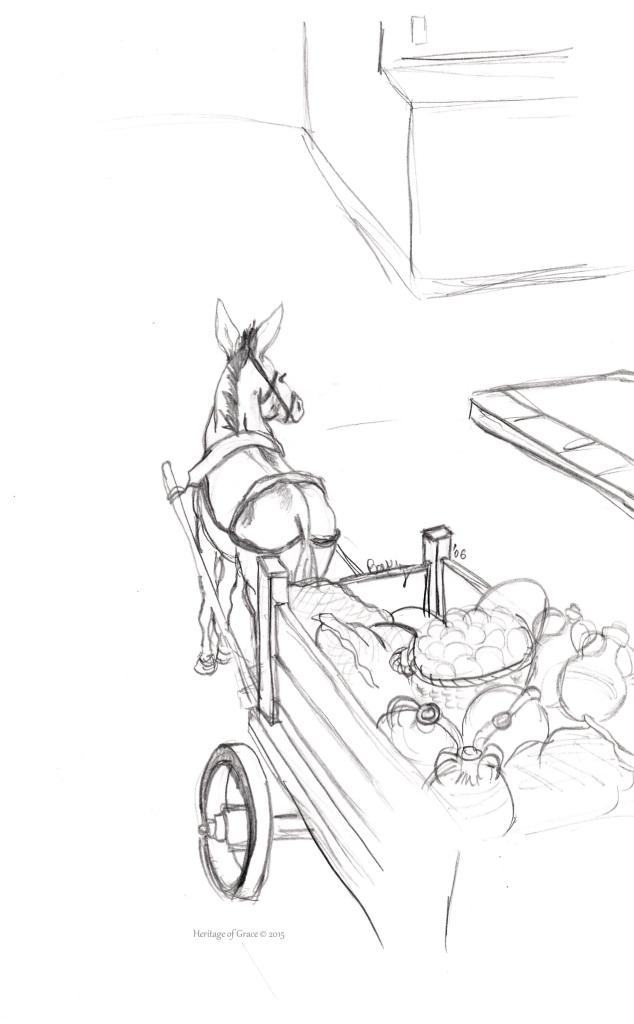donkey cart sketch