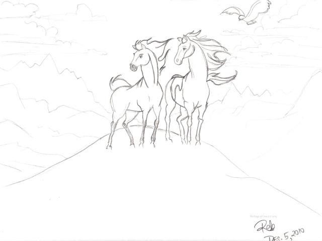 Spirit Stallion sketch