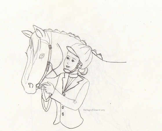 horse drawing sketch