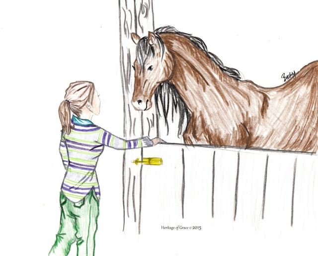 horse stable drawing